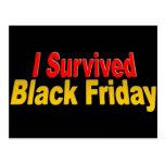 ¡Sobreviví viernes negro! Tarjeta Postal