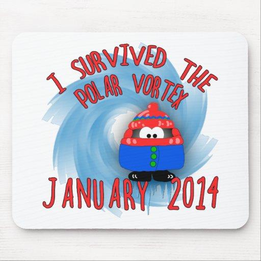 Sobreviví VÓRTICE enero de 2014 POLAR Mouse Pads