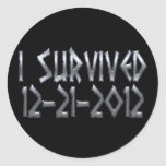 Sobrevivido 2012 pegatina redonda