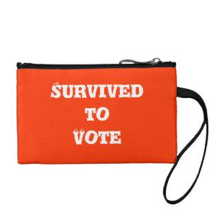Sobrevivido para votar el bolso de la moneda
