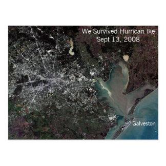 Sobrevivimos el huracán Ike - postal