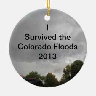 Sobrevivió el ornamento de las inundaciones adorno para reyes