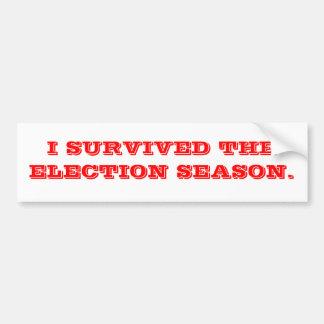 Sobrevivió la elección etiqueta de parachoque