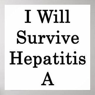 Sobreviviré la hepatitis A Poster