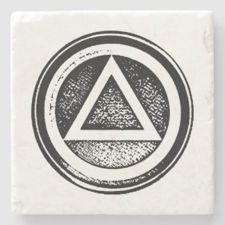 Sobriedad oval sobria de piedra AA de la Posavasos De Piedra