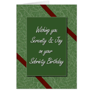 Sobriety Birthday Cards