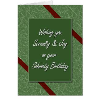 Sobriety Birthday Greeting Card