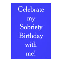 Sobriety cards greeting photo cards zazzle sobriety birthday invitations bookmarktalkfo Choice Image