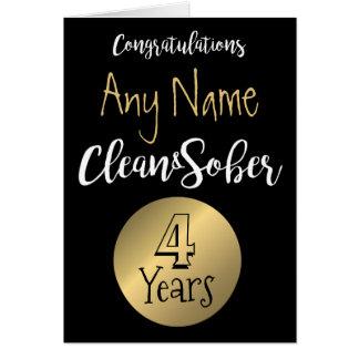 Sobriety card 12 step sober anniversary birthday