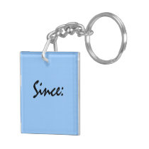 Sobriety Date Key Tag Double-Sided Square Acrylic Keychain