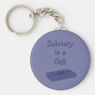 Sobriety is a Gift key chain