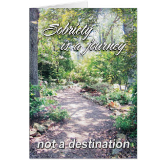 sobriety is a journey 11 card