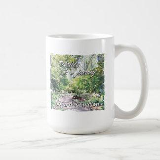 sobriety is a journey coffee mug