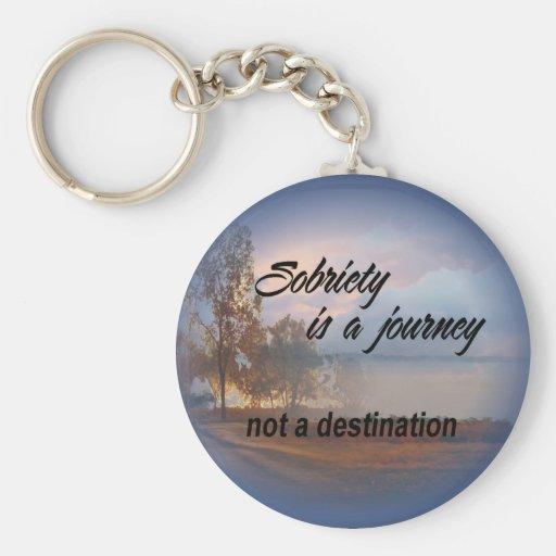 sobriety is a journey keychain