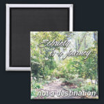 """sobriety is a journey magnet<br><div class=""""desc"""">sobriety is a journey,  not a destination... aa slogans acting as reminders on a daily basis... a great 12 step recovery gift</div>"""