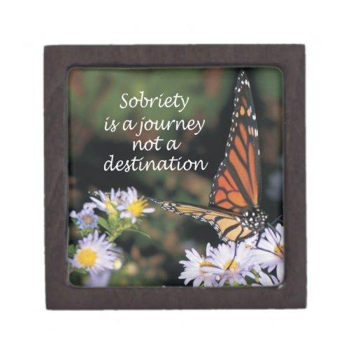 sobriety is a journey premium jewelry box