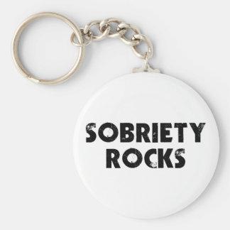 Sobriety Rocks Keychain
