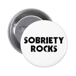 Sobriety Rocks Pinback Button