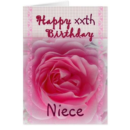 SOBRINA - cumpleaños feliz del xxth - color de ros Tarjeta