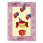 Sobrina de Feliz Cumpleaños Tarjeta De Felicitación