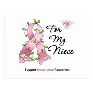 Sobrina de la ayuda del cáncer de pecho postal