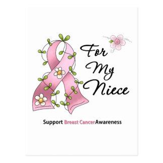 Sobrina de la ayuda del cáncer de pecho tarjeta postal
