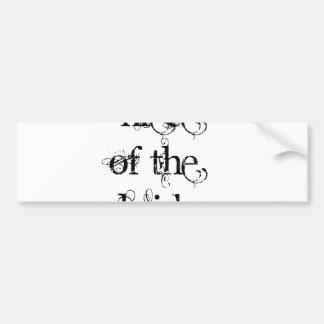 Sobrina de la novia etiqueta de parachoque