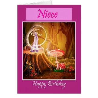 Sobrina del feliz cumpleaños con cumpleaños de tarjeta de felicitación