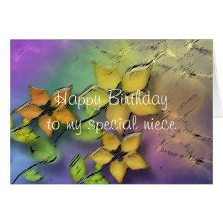 Sobrina del feliz cumpleaños tarjeta de felicitación