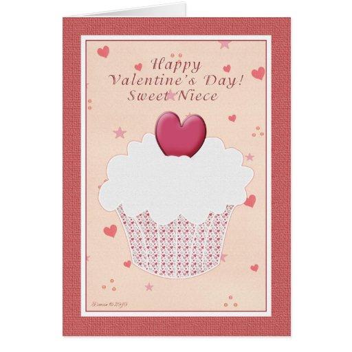 Sobrina - el día de San Valentín feliz - magdalena Felicitación