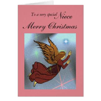 Sobrina/Felices Navidad - ángel Tarjeta De Felicitación