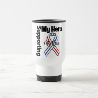 Sobrina - militar que apoya a mi héroe tazas