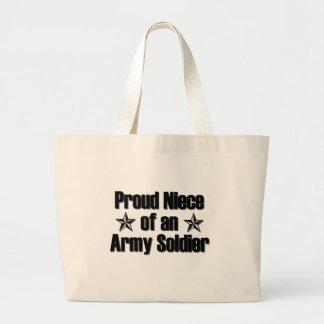 Sobrina orgullosa del ejército bolsa