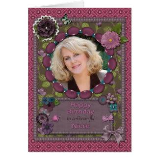 Sobrina, tarjeta de la foto para un cumpleaños