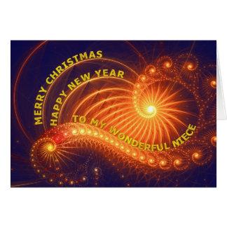 Sobrina, un deseo del navidad tarjeta de felicitación