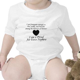 Sobrino de la fuerza aérea afortunado trajes de bebé