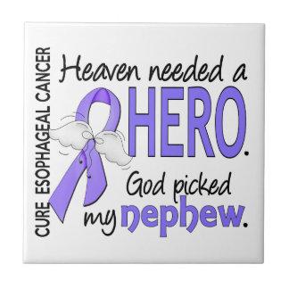 Sobrino del esófago del cáncer del héroe necesario azulejo cuadrado pequeño