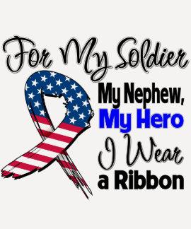 Sobrino - mi soldado, mi cinta patriótica del playeras