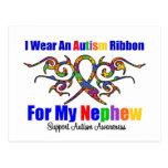 Sobrino tribal de la cinta del autismo tarjetas postales