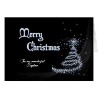 Sobrino, una tarjeta de Navidad blanco y negro