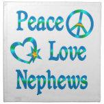 Sobrinos del amor de la paz servilletas