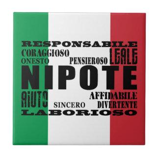 Sobrinos y nietos italianos: Calidades Azulejo Cuadrado Pequeño