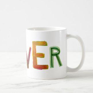 Sobrio señalada único colorido del arte de la taza de café