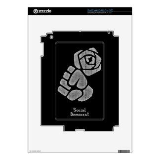 Soc Dem Rose Fist iPad 2 Skins