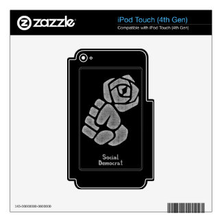 Soc Dem Rose Fist iPod Touch 4G Decal