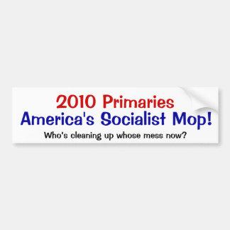 Socailist mop bumper sticker