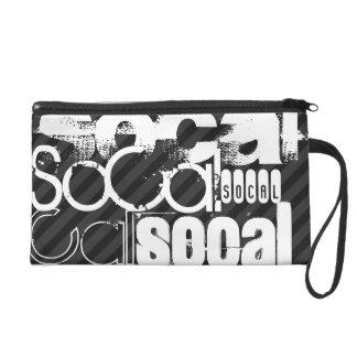 SoCal; Black & Dark Gray Stripes Wristlets