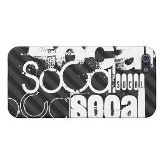 SoCal; Black & Dark Gray Stripes iPhone SE/5/5s Cover