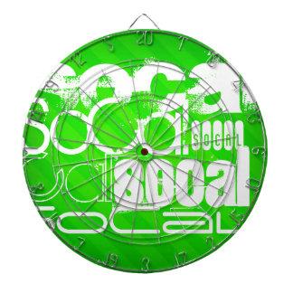SoCal; Neon Green Stripes Dartboard With Darts