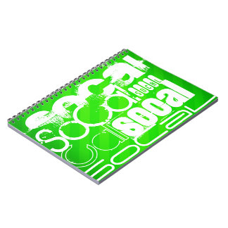 SoCal; Neon Green Stripes Note Books
